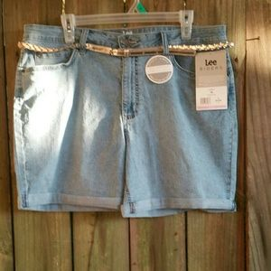 Lee Light Blue Jean Shorts size 18